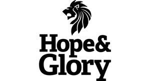 Hope and glory black logo