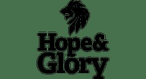 Hope and glory black logo